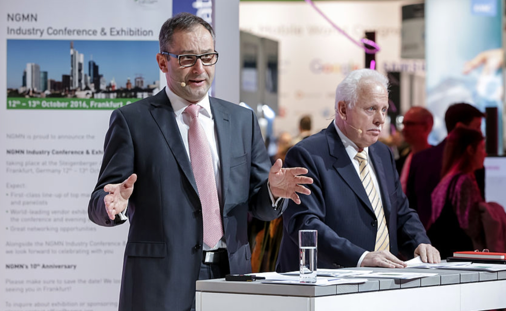 Il Chairman NGMN Bruno Jacobfeuerborn e il CEO NGMN Peter Meissner